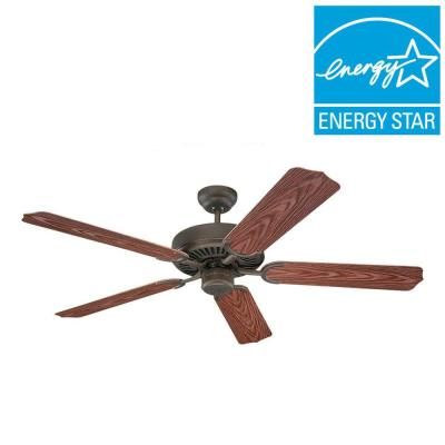 Panorama 52 in. Roman Bronze Outdoor Ceiling Fan